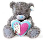 Мишка Тедди c сердцем, 61см.