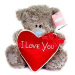 Мишка Тедди с сердцем, 23см.
