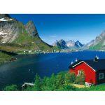Пазл Норвегия: рыбацкая деревня 500
