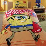 детское постельное бельё sponge bob academics