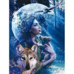 Пазл  Богиня волков 1000