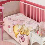 Плед детский STAR BEAR, розовый