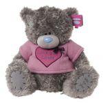 Мишка Тедди в розовой футболке с сердцем Love you Loads. 50 см