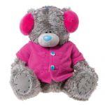 Мишка Тедди в красных наушниках и пиджачке. 41 см